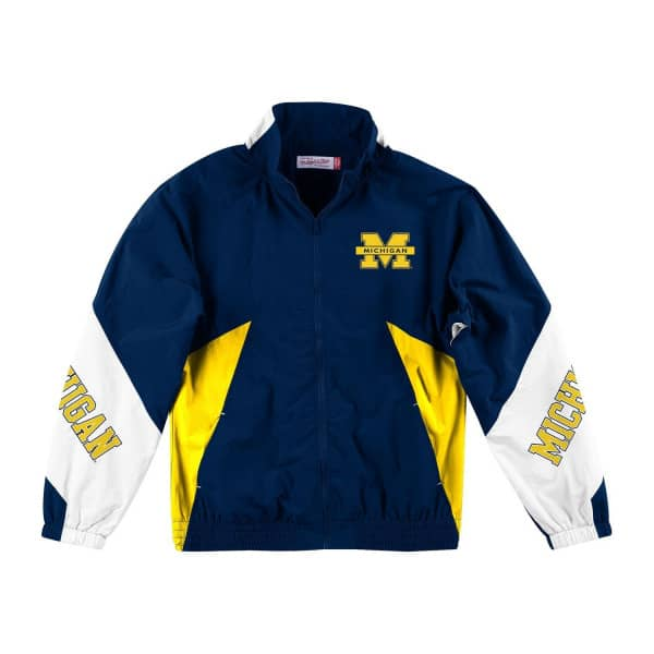 Michigan Wolverines Mid Season 2.0 Mitchell & Ness NCAA Trainingsjacke