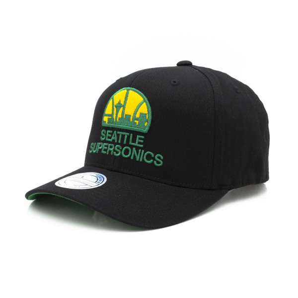 Seattle SuperSonics Cotton Team 110 Stretch Snapback NBA Cap Schwarz