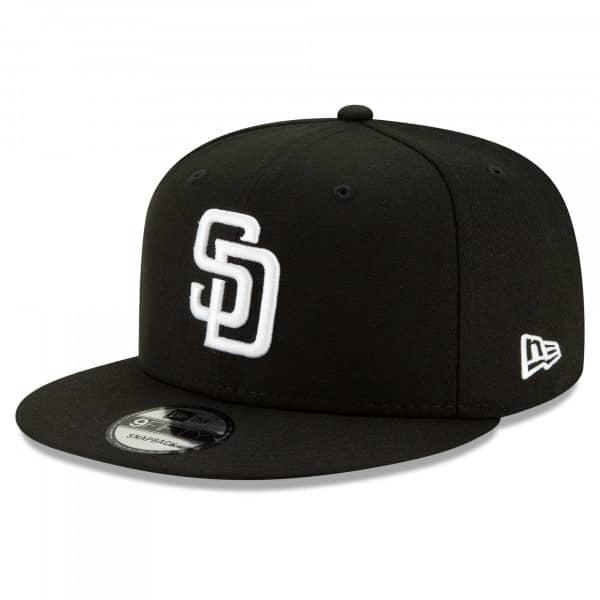 San Diego Padres Black & White New Era 9FIFTY Snapback MLB Cap
