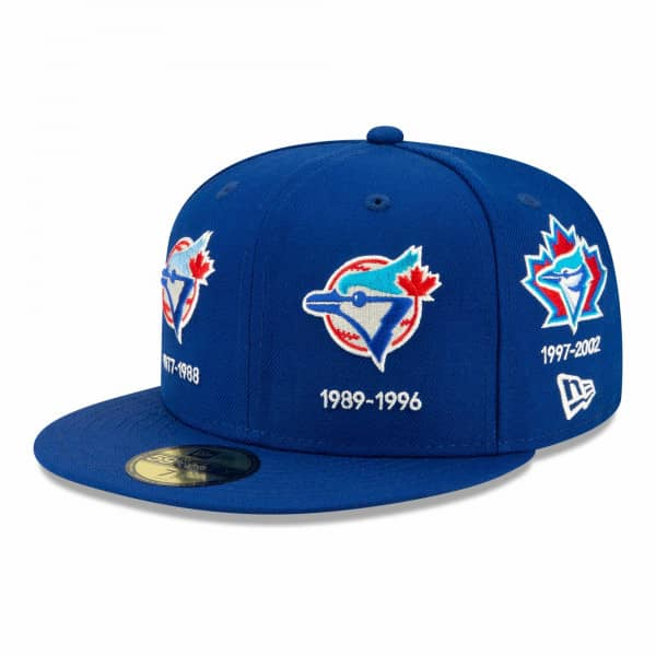 Toronto Blue Jays Cooperstown Logo Progression New Era 59FIFTY Fitted MLB Cap