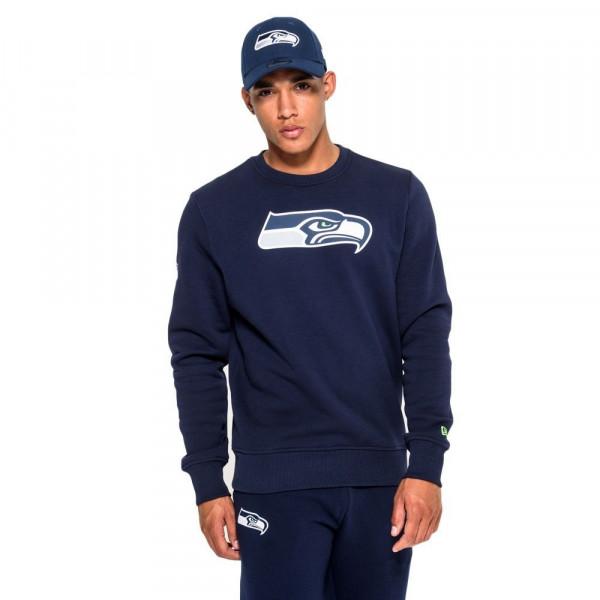 Seattle Seahawks Logo Crewneck NFL Sweatshirt Navy