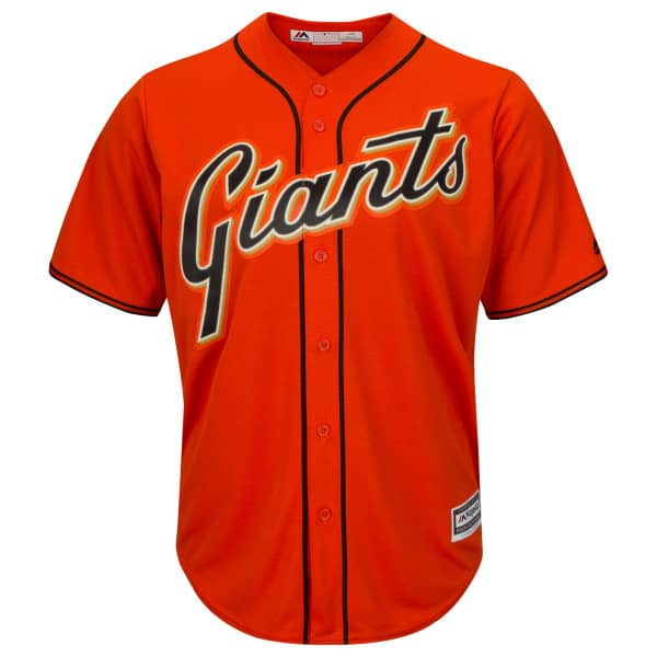 new styles a67be 511b4 San Francisco Giants Cool Base MLB Jersey Alternate Orange
