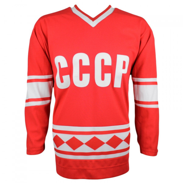 Team CCCP Soviet Union Red Army 1980 Olympic Replica Hockey Jersey Red  ad2ff2f8e0d