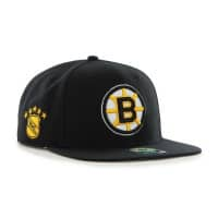 Boston Bruins Vintage Sure Shot Snapback NHL Cap Schwarz