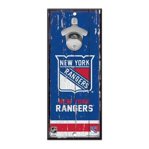 New York Rangers NHL Schild mit Flaschenöffner