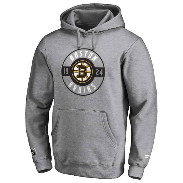 Boston Bruins Circle 1924 Fanatics Iconic NHL Hoodie Grau