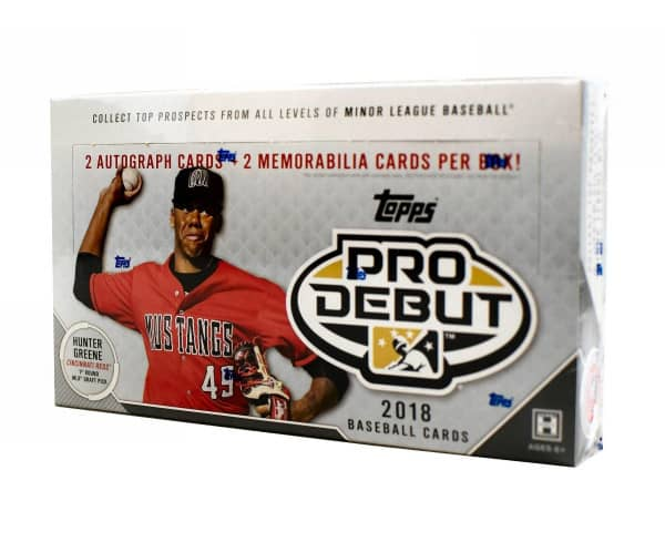 2018 Topps Pro Debut Baseball Hobby Box MLB