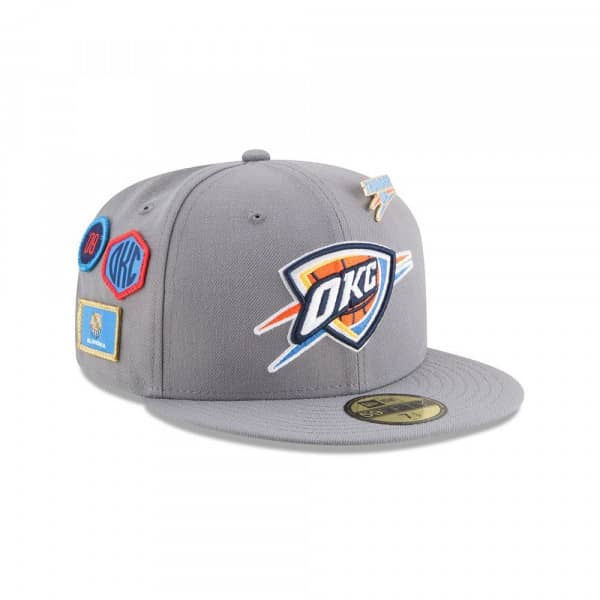 best service 8b5e7 11706 New Era Oklahoma City Thunder 2018 NBA Draft 59FIFTY Fitted Cap Storm Grey    TAASS.com Fan Shop