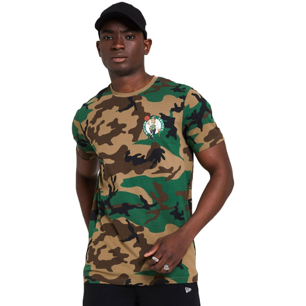 Boston Celtics New Era Woodland Camo NBA T-Shirt
