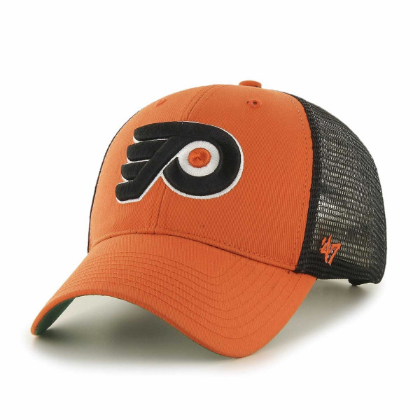 2779f99153d 47 Brand Philadelphia Flyers Branson NHL Trucker Cap Orange