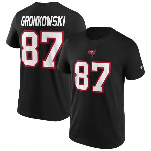 Rob Gronkowski #87 Tampa Bay Buccaneers Fanatics Player NFL T-Shirt Schwarz