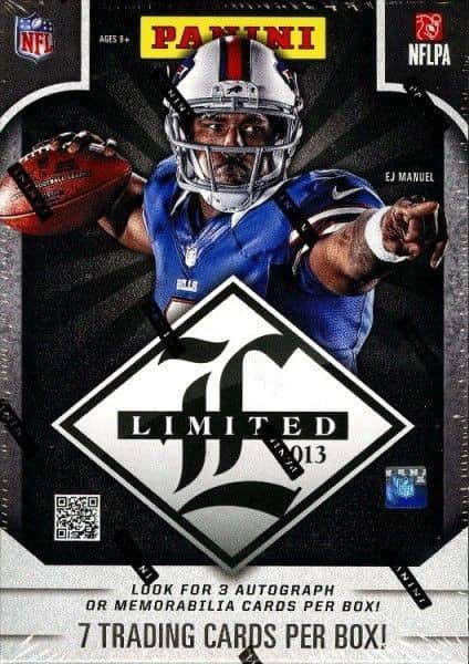 2013 Panini Limited Football Hobby Box NFL