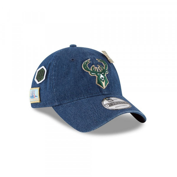 best loved 2fbf6 4f435 New Era Milwaukee Bucks 2018 NBA Draft 9TWENTY Adjustable Cap Blue Denim    TAASS.com Fan Shop
