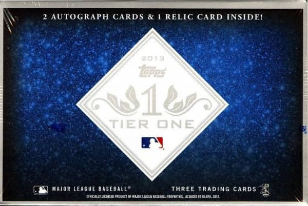 2013 Topps Tier One Baseball Hobby Box MLB