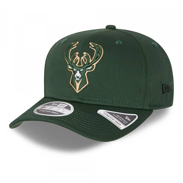 Milwaukee Bucks Team Color New Era 9FIFTY Stretch-Snap NBA Cap Grün