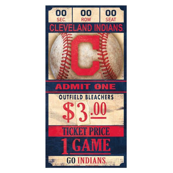 Cleveland Indians MLB Ticket Schild