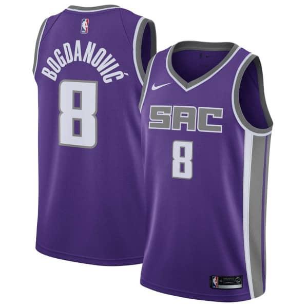 size 40 4e926 b6f4a Bogdan Bogdanović #8 Sacramento Kings Icon Swingman NBA Jersey Purple