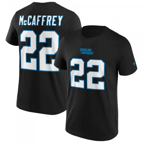Christian McCaffrey #22 Carolina Panthers Fanatics Player NFL T-Shirt Schwarz