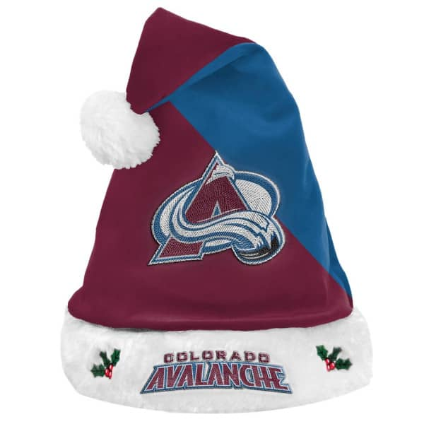 Colorado Avalanche FOCO Basic Santa NHL Weihnachtsmannmütze