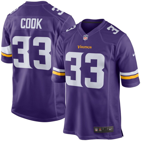 Dalvin Cook #33 Minnesota Vikings Nike Football Game NFL Football Trikot Lila