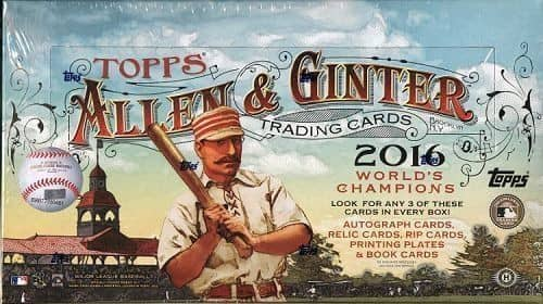 2016 Topps Allen & Ginter Baseball Hobby Box MLB