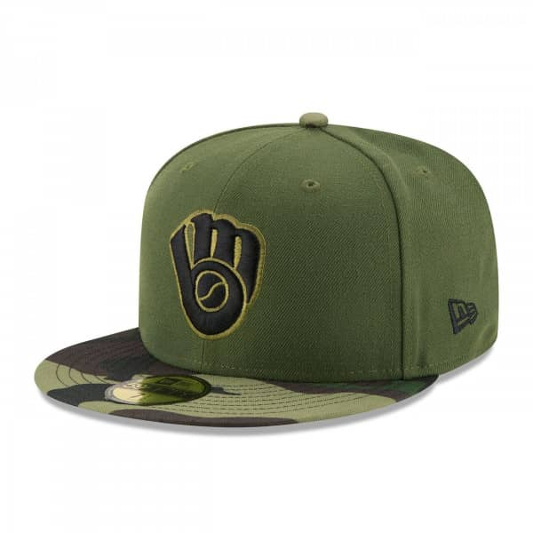 Milwaukee Brewers 2017 Memorial Day 59FIFTY Fitted MLB Cap