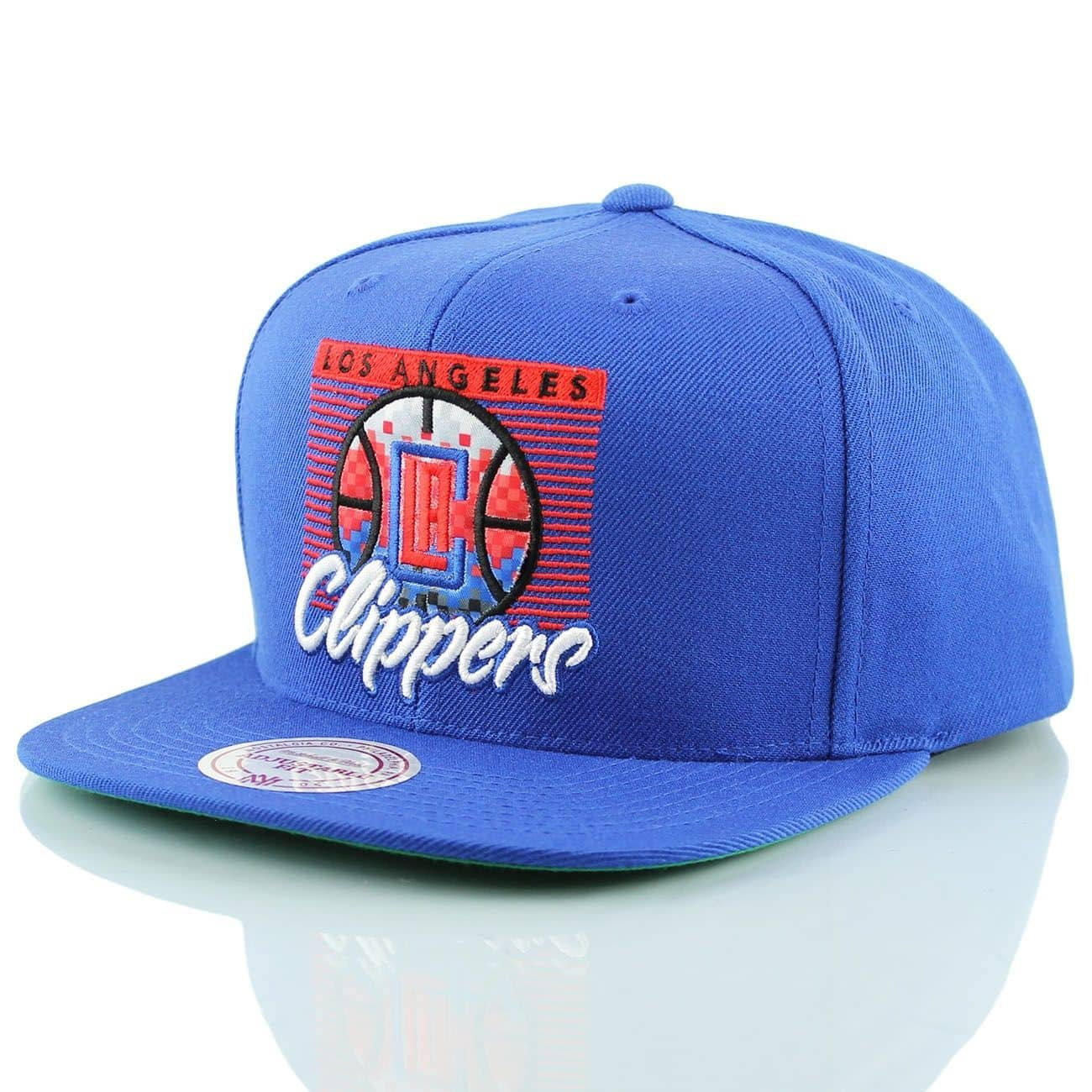 883047754ca Mitchell   Ness Los Angeles Clippers Easy 3 Digital Snapback NBA Cap Blue