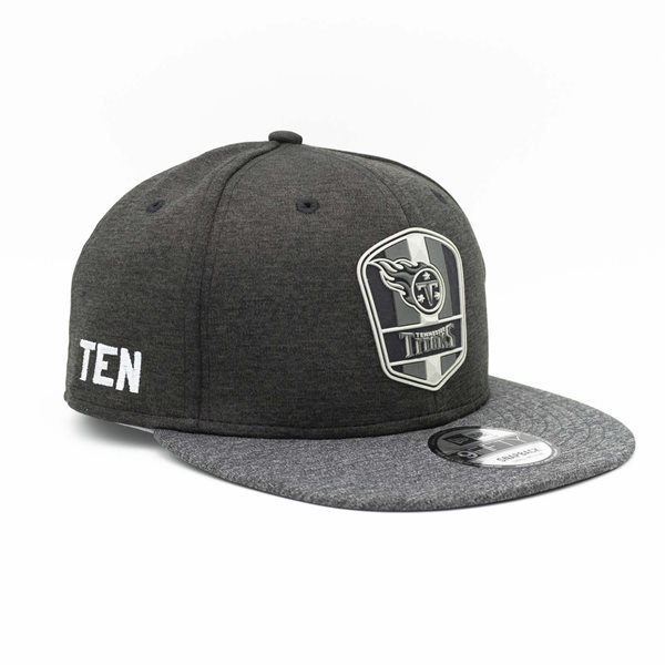 Tennessee Titans Black 2018 NFL Sideline 9FIFTY Snapback Cap Road
