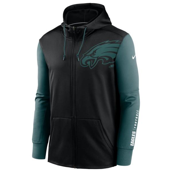 Philadelphia Eagles 2020 NFL Big Logo Nike Therma Full-Zip Hoodie