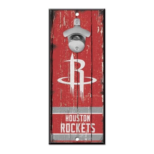 Houston Rockets NBA Schild mit Flaschenöffner