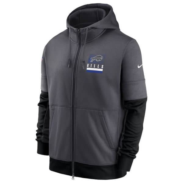 Buffalo Bills 2020 NFL Sideline Lockup Nike Therma Full-Zip Hoodie