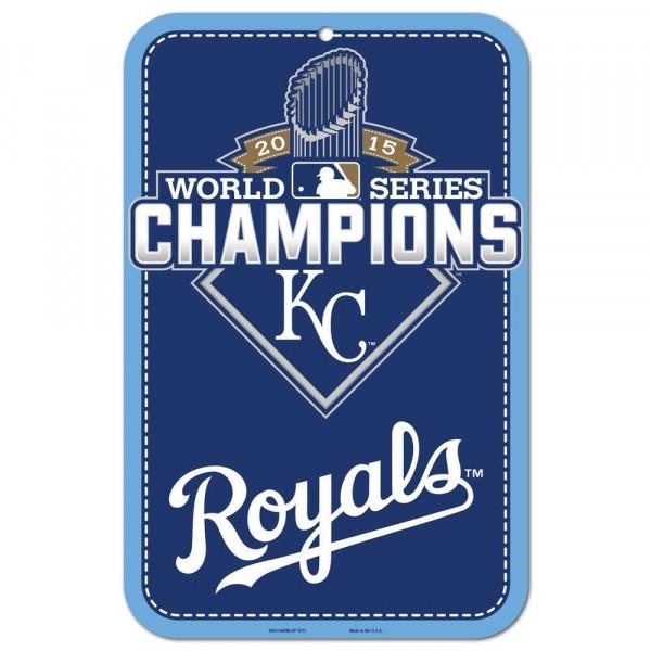 Kansas City Royals 2015 World Series Champions MLB Schild