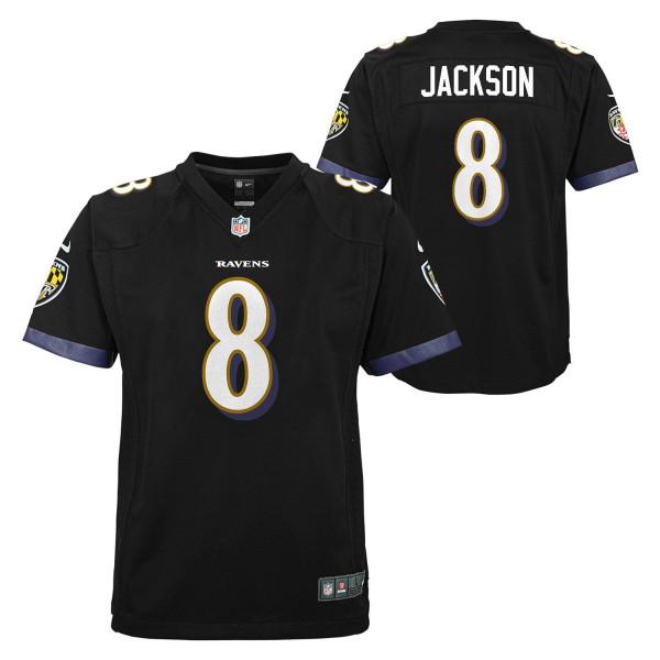 Lamar Jackson #8 Baltimore Ravens Nike Game Youth NFL Trikot (KINDER)