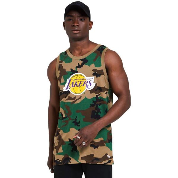 Los Angeles Lakers New Era Woodland Camo NBA Tank Top
