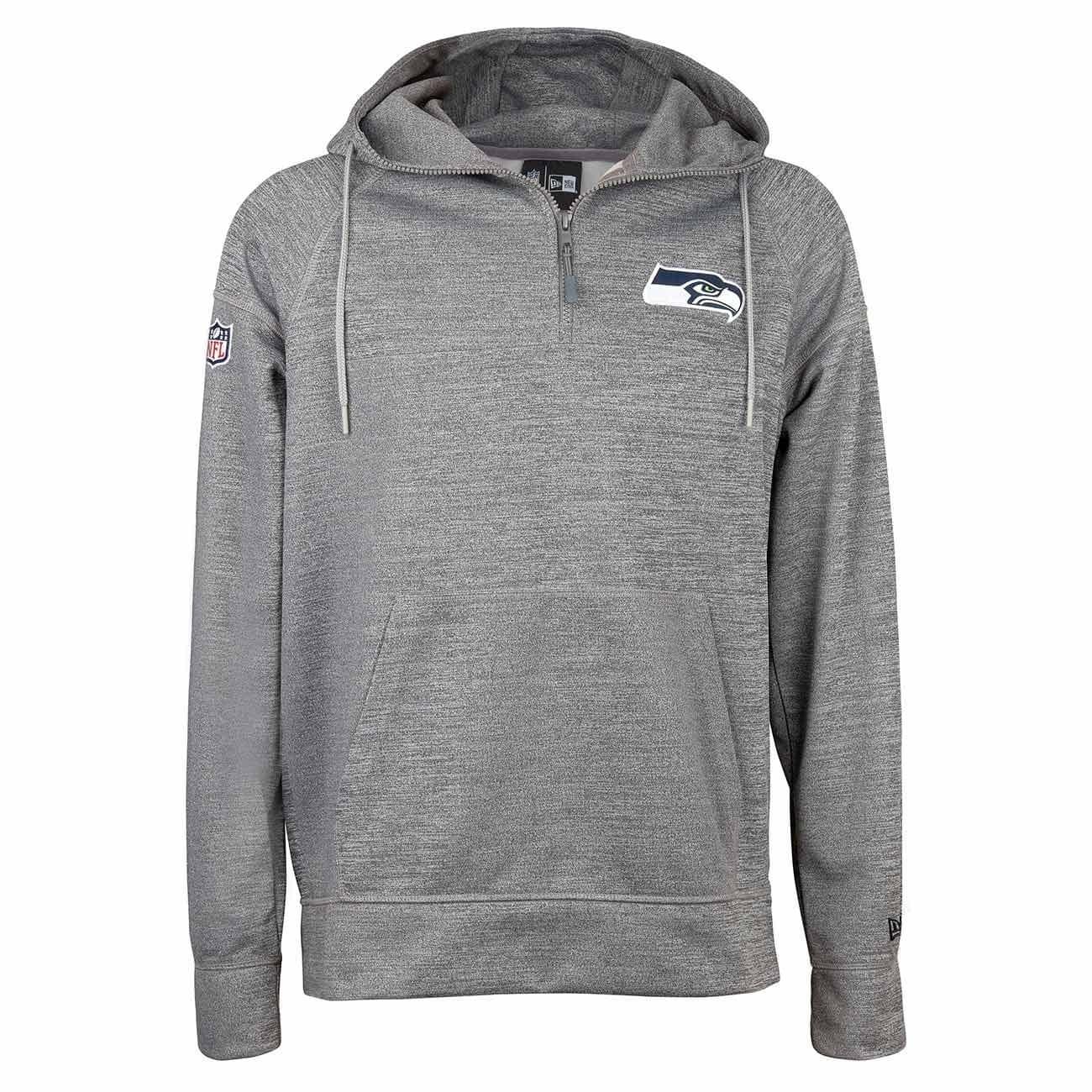 ecfc15aa6 New Era Seattle Seahawks Quarter-Zip Jersey NFL Hoodie Sweatshirt Grey