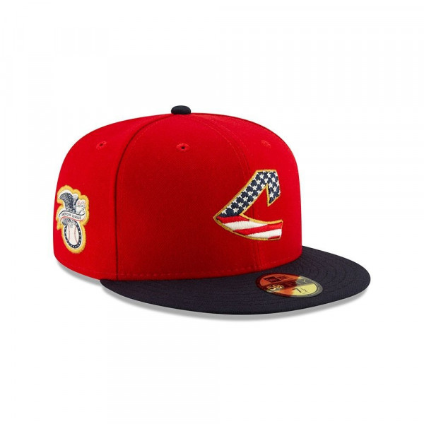 Cleveland Indians 4th of July 2019 59FIFTY Fitted MLB Cap