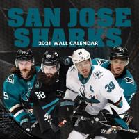 San Jose Sharks 2021 Team NHL Wandkalender