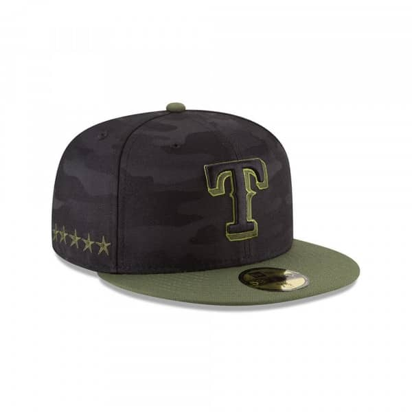 separation shoes fd311 53020 New Era Texas Rangers 2018 Memorial Day 59FIFTY Fitted MLB Cap   TAASS.com  Fan Shop