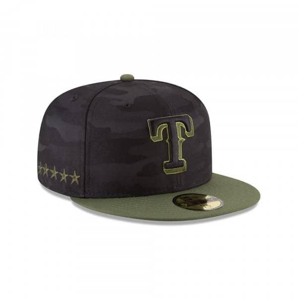 aab6d207 New Era Texas Rangers 2018 Memorial Day 59FIFTY Fitted MLB Cap | TAASS.com  Fan Shop