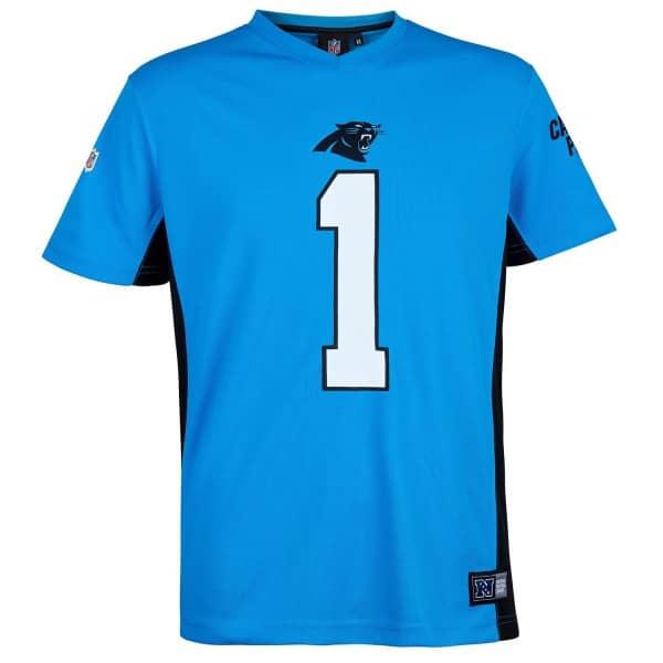 b43f045f8e1 Cam Newton  1 Carolina Panthers MORO MESH Jersey NFL T-Shirt