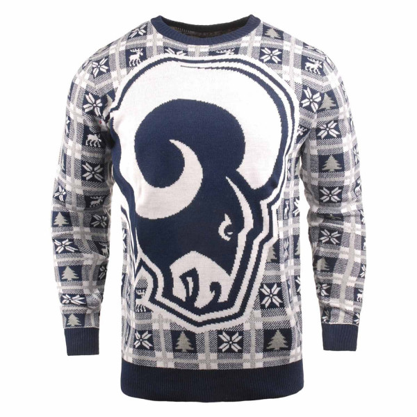 Los Angeles Rams Big Logo NFL Ugly Holiday Sweater