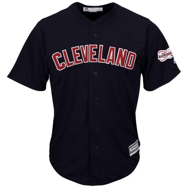 Cleveland Indians Cool Base MLB Trikot Alternate Road Navy 2019 All-Star Game