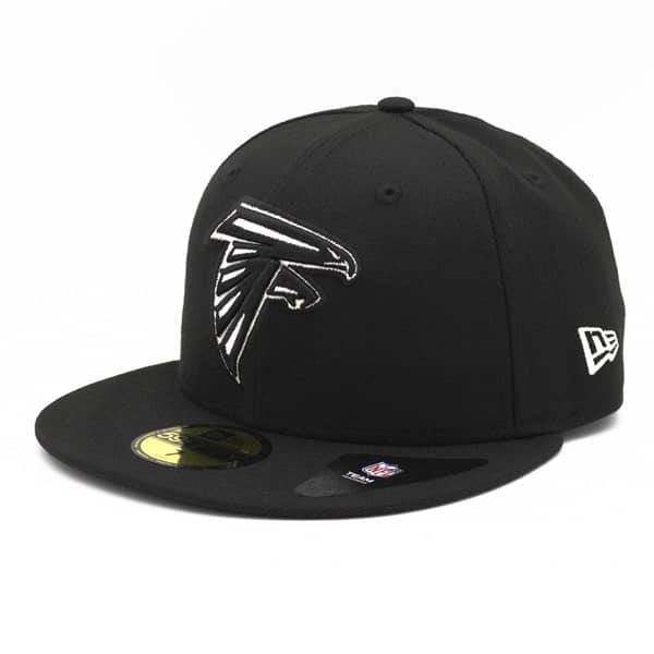 Atlanta Falcons Black & White 59FIFTY Fitted NFL Cap