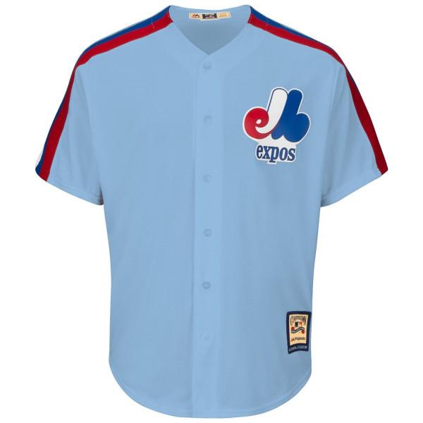 Montreal Expos Cooperstown Cool Base MLB Trikot Blau