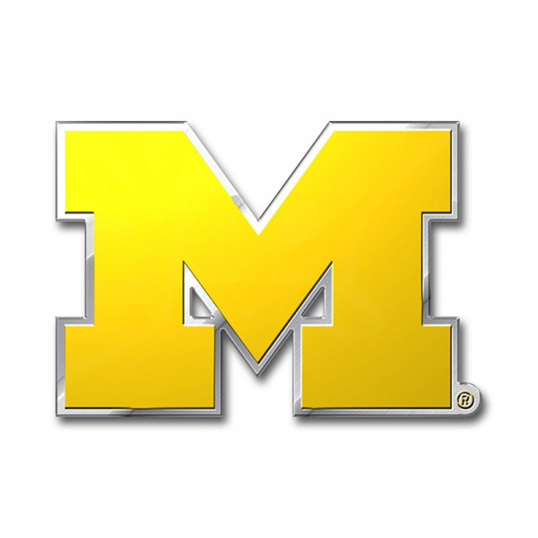 Michigan Wolverines Aluminium Color NCAA Team Emblem