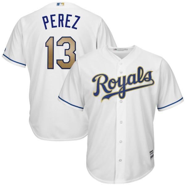 Salvador Perez #13 Kansas City Royals Cool Base MLB Trikot Home