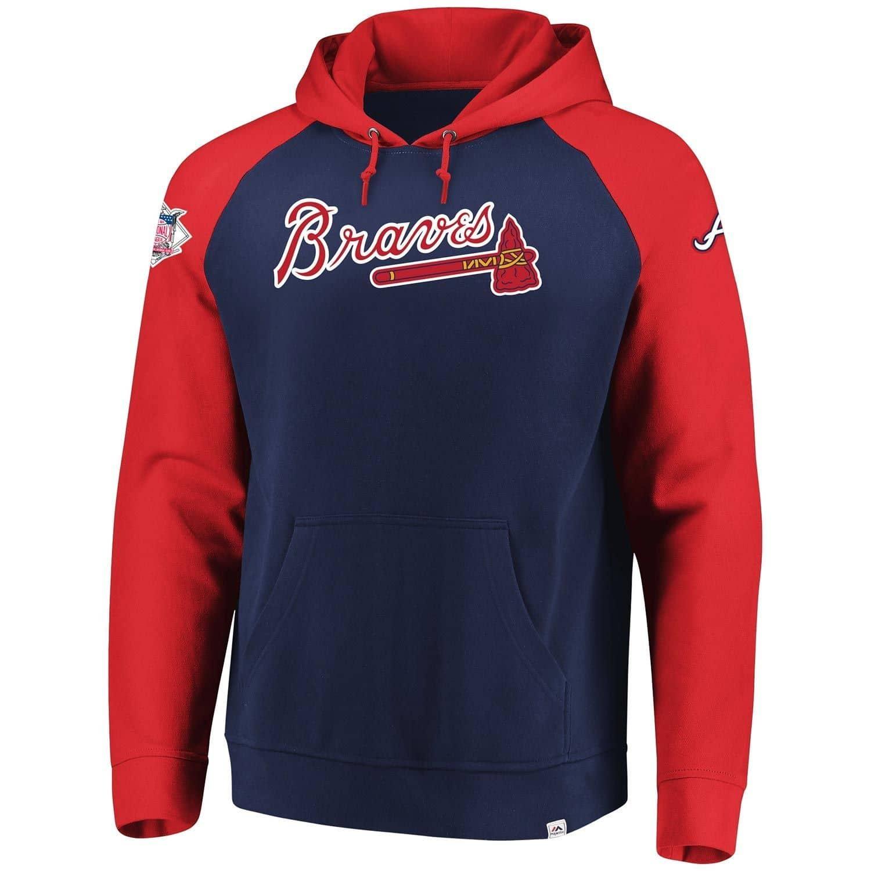 9ad0fdb6207c5 Majestic Atlanta Braves With Attitude MLB Hoodie Sweatshirt   TAASS.com Fan  Shop