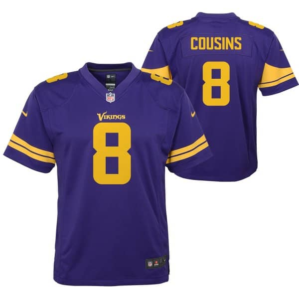 wholesale dealer 7a7bb 3c328 Kirk Cousins #8 Minnesota Vikings Color Rush Youth NFL Jersey (KIDS)