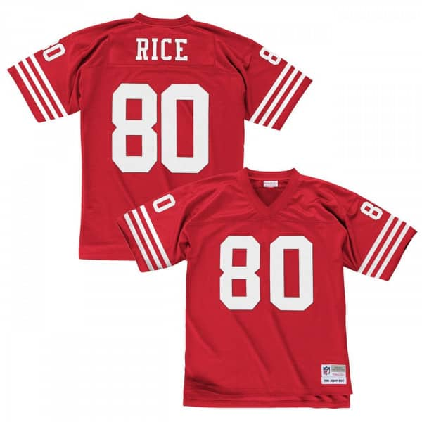 a8b76c89aae7d Mitchell & Ness Jerry Rice #80 San Francisco 49ers Legacy Throwback NFL  Jersey Red | TAASS.com Fan Shop