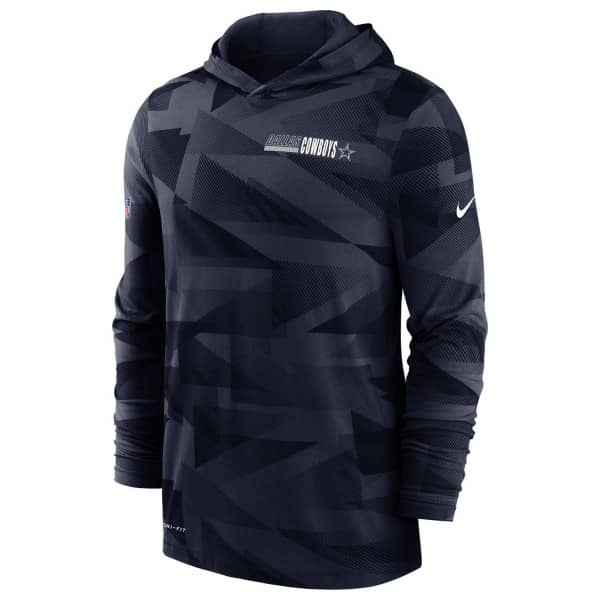 Dallas Cowboys 2020 NFL Sideline Long Sleeve Nike Lightweight Hoodie